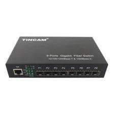 TINCAM1000M八光一电交换机专用于智能交通光纤传输